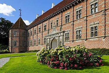 Voergard Castle near Flauenskjold, Jutland, Denmark, Europe