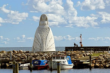 Monument, Lady from the Sea, Saeby, Jutland, Denmark, Europe