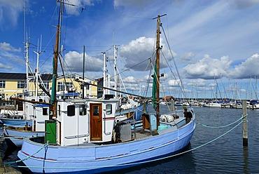 Fishing boats, port, Saeby, Jutland, Denmark, Europe