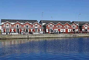 Row of houses, Skagen, Jutland, Denmark, Europe