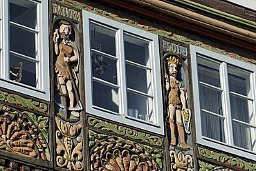 Half-timbered house built in the Weser Renaissance style, Lemgo, North Rhine-Westphalia, Germany, Europe