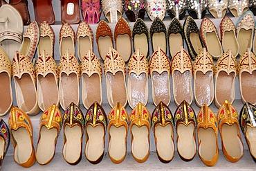 Shoes, Pushkar Mela, largest camel and cattle market, Pushkar, Rajasthan, North India, Asia
