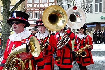 Frumptarn Barnsley band Barnsley UK, 26. International Guggenmusiktreffen, Guggenmusik folk music festival, 14th and 15th of February 2009, Schwaebisch Gmuend, Baden-Wuerttemberg, Germany, Europe