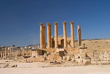 Temple of Artemis, Jerash, Jordan, Southwest Asia