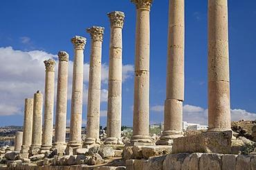 Columns, The Cardo, Jerash, Jordan, Southwest Asia