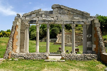 Ancient Greek archeological excavation of Apollonia, Albania, the Balkans, Europe
