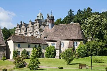 Haemelschenburg Castle, Weser Renaissance style, Weserbergland, Lower Saxony, Germany, Europe