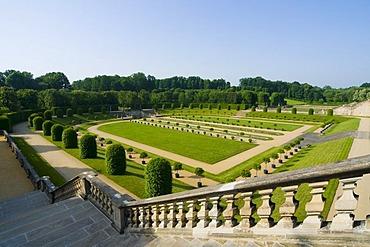 Lower orangery terrace, baroque Garden Grosssedlitz, Dresden, Saxony, Germany