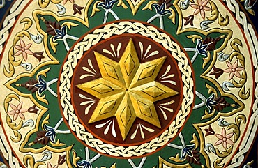 Relief on the ceiling of the Omayyaden-Mosque, Damascus, Syria, Middle East, Orient