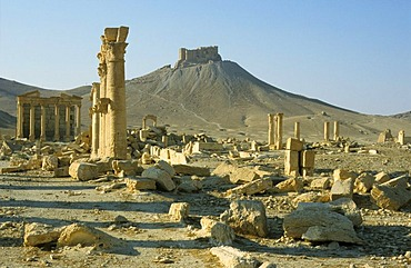 Ruins of the desert town Palmyra, Syria, Middle East, Orient