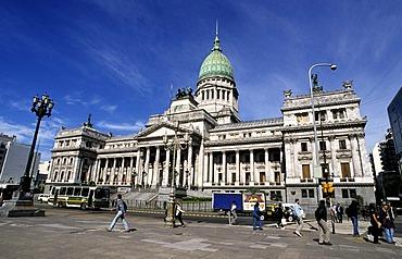 Congress Building on Plaza de Congreso, Buenos Aires, Argentina, South America