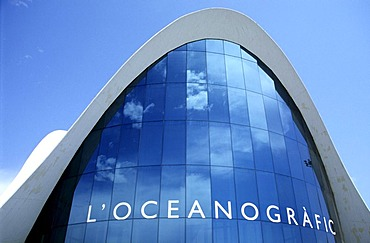L'Oceanografic, oceanarium in the Ciutat de les Arts i des les Ciences, city of art and science, Valencia, Spain, Europe