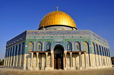 Dome of the Rock, Qubbet es-Sakhra, on Temple Mount, Jerusalem, Israel, Western Asia, Orient