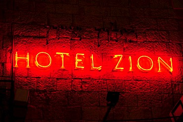 Hotel Zion in evening lighting, Jerusalem, Israel, Middle East, the Orient
