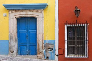 Doors and windows, historic town of Guanajuato, UNESCO World Heritage Site, Province of Guanajuato, Mexico