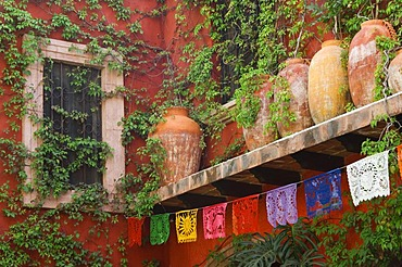 Colonial house, historic town San Miguel de Allende, Province of Guanajuato, Mexico