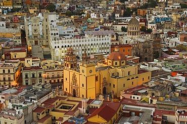 Cathedral Nuestra Senhora de Guanajuato and University at night, historic town of Guanajuato, UNESCO World Heritage Site, Province of Guanajuato, Mexico