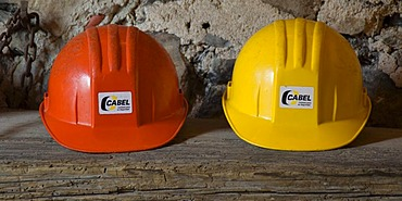 Miner helmets, former mine of Bocamina San Ramon, historic town of Guanajuato, UNESCO World Heritage Site, Province of Guanajuato, Mexico