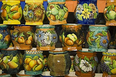 Pottery fabric, San Miguel de Allende, Province of Guanajuato, Mexico