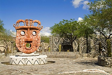 Pachamama Inca museum, creation by Hector Cruz, Amaicha, Calchaqui Valley, Tucuman Province, Argentina North West