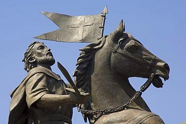 Statue of Santiago el Mayor, historic town Santiago de Queretaro, UNESCO World Heritage Site, Province of Queretaro, Mexico