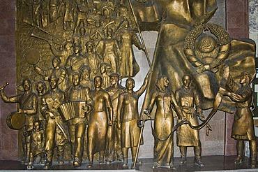 State Historical Museum, former Lenin Museum, The triumphant revolution, Bishkek, Kyrgystan