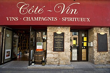 Typical wine shop, Nice, Provence Cote d'Azur, France, Europe