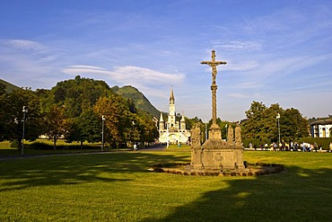 Porte Saint Michel, Rosary Basilica, Lourdes, Pyrenees-Midi, France, Europe