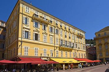 Cour Saleya, flower market, Nice, provence Cote d'Azur, France, Europe