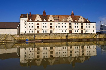 Harbour, Rhine?Main?Danube Canal, Bamberg, Upper Franconia, Bavaria, Germany, Europe