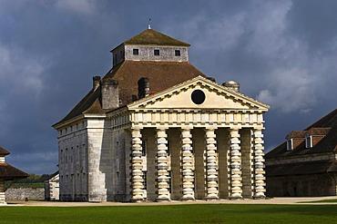 Palais de Directeur, Saline Royale, Royal Saltworks, Arc-et-Senans, Franche-Comte, France, Europe, PublicGround