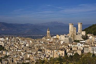 Pacentro with Rocca San Lorenzo, Abruzzo, Italy, Europe