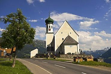 Baroque church, Bartholomaeberg, Vorarlberg, Austria, Europe