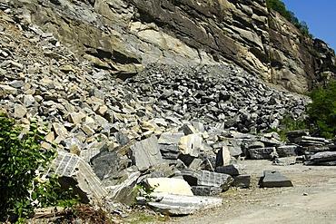 Stone quarry, Riveo, Valle Maggia Valley, Ticino, Switzerland, Europe