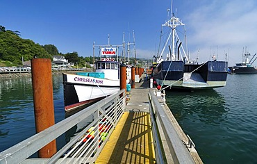 Newport harbour, Yaquina Bay, Lincoln County, Oregon, USA