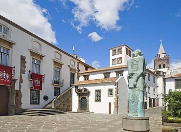 Assembleia Regional, Regional Assembly in front of Se Church, Funchal, Madeira, Portugal