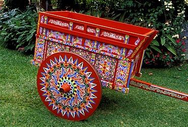 Traditional coffee trailer, Sarchi, Costa Rica, Central America