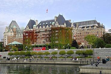Empress Hotel, historic railroad hotel, Victoria, Vancouver Island, British Columbia, Canada, North America