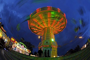 Swing carousel on a fairground