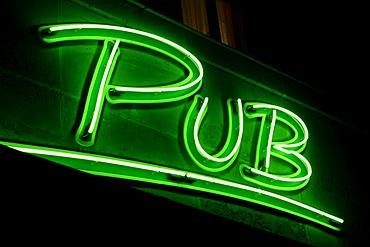 Neon pub sign
