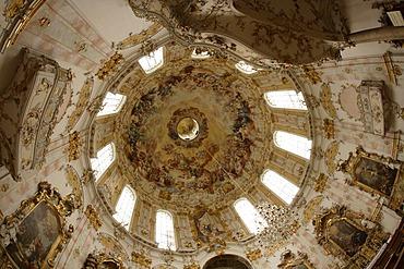 Cupola of Ettal Abbey, Bavaria, Germany, Europe