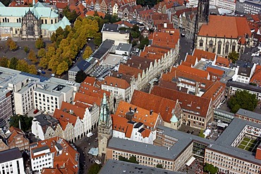 Prinzipalmarkt Market, city centre of Muenster, North Rhine-Westphalia, Germany, Europe