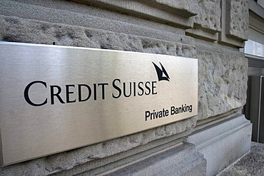 Sign Private Banking on a subsidiary of the Credit Suisse, Kreuzlingen, Switzerland, Europe