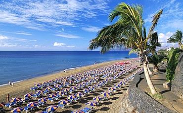 Playa Blanca at Puerto del Carmen, Lanzarote, Canary Islands, Spain, Europe