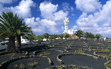 Vineyards at Monumento al Campesino in San Bartolome, Lanzarote, Canary Islands, Spain, Europe