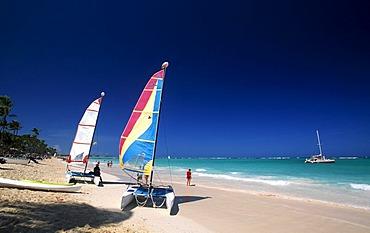 Catamarans on the Playa Bavaro, Punta Cana, Dominican Republic, Caribbean