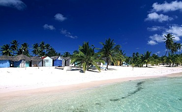 Manojuan fishing village on Saona Island, Parque Nacional del Este, Dominican Republic, Caribbean