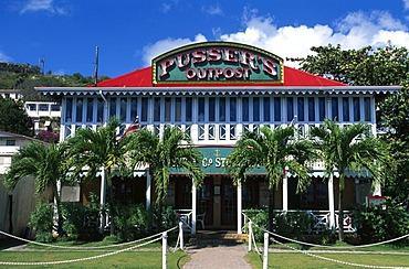 Pusser's Bar in Roadtown on Tortola Island, British Virgin Islands, Caribbean