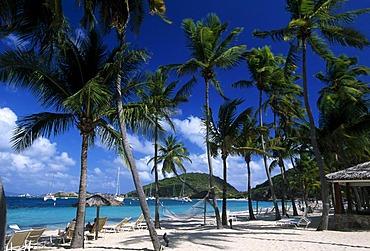 Beach of the Peter Island Beach Resort, Peter Island, British Virgin Islands, Caribbean
