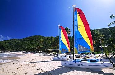 Catamarans on Peter Island, British Virgin Islands, Caribbean